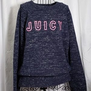 Juicy Couture Blue Sweater with Silver NWT